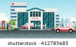 ambulances took the injured to... | Shutterstock .eps vector #412785685