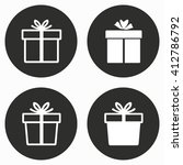gift box vector icon.... | Shutterstock .eps vector #412786792