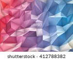 polygon  low poly  abstract... | Shutterstock .eps vector #412788382