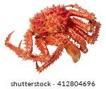 Small photo of Alaska Crab big isolated on white background