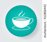 coffee cup icon vector  solid... | Shutterstock .eps vector #412806442