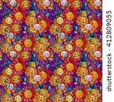 flower pattern. seamless... | Shutterstock . vector #412809055