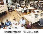 meeting sharing brainstorming... | Shutterstock . vector #412813585