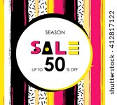sale banner. brush stroke... | Shutterstock .eps vector #412817122
