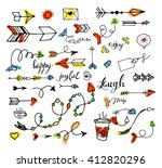 vector hand drawn set on white... | Shutterstock .eps vector #412820296