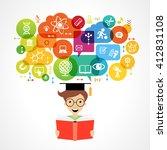 concept of modern training.... | Shutterstock .eps vector #412831108