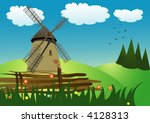 vector illustration of the mill ... | Shutterstock .eps vector #4128313