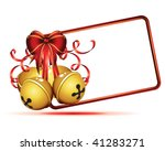 gold christmas bells isolated...