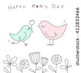 happy mother's day with cute... | Shutterstock .eps vector #412833466