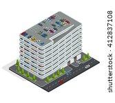 urban multi storey car parking. ...   Shutterstock .eps vector #412837108