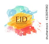 muslim community festival  eid...   Shutterstock .eps vector #412839082