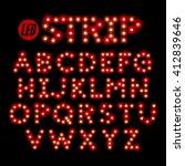 led ribbon strip light alphabet ... | Shutterstock .eps vector #412839646