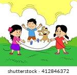 kids summer camp  | Shutterstock .eps vector #412846372