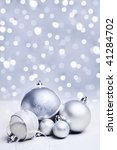 white or silver christmas... | Shutterstock . vector #41284702