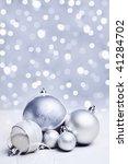 white or silver christmas... | Shutterstock . vector #41284702