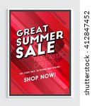 great summer sale flyer  sale... | Shutterstock .eps vector #412847452