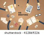 recruitment is a very tiring... | Shutterstock .eps vector #412869226