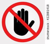 no entry sign   Shutterstock .eps vector #412881418