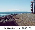 tenerife south la gomera island ... | Shutterstock . vector #412885102