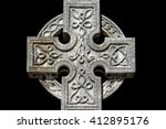 Celtic Cross Cemetery Isolated...