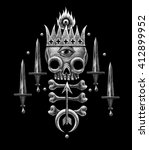 heraldry illustration with... | Shutterstock . vector #412899952