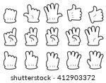 gesture hands   | Shutterstock .eps vector #412903372