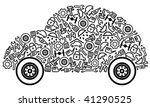 cars spare parts and service... | Shutterstock .eps vector #41290525