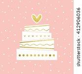 vector illustration of wedding... | Shutterstock .eps vector #412906036