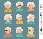 old people set. vector isolated ... | Shutterstock .eps vector #412910518