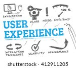 user experience. chart with... | Shutterstock .eps vector #412911205