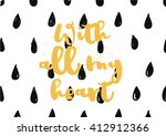 with all my heart inscription.... | Shutterstock .eps vector #412912366