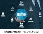 solution technology... | Shutterstock . vector #412915912