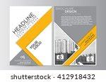abstract flyer design...   Shutterstock .eps vector #412918432