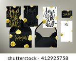 tony glittering gold textured...   Shutterstock .eps vector #412925758