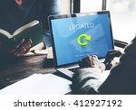 updated upgrade new download... | Shutterstock . vector #412927192