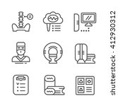 set line icons of magnetic... | Shutterstock .eps vector #412930312