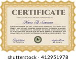 orange diploma. with background....   Shutterstock .eps vector #412951978