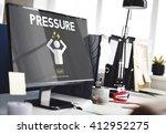 pressure afraid nervous panic... | Shutterstock . vector #412952275