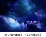 stars in the night sky | Shutterstock . vector #412956088