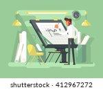 engineer project draws | Shutterstock .eps vector #412967272