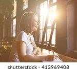 online communication technology ... | Shutterstock . vector #412969408