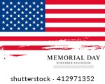 memorial day. remember and... | Shutterstock .eps vector #412971352