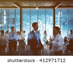 business people working in a... | Shutterstock . vector #412971712