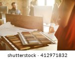 design team busy working... | Shutterstock . vector #412971832