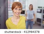 Cute Young Red Haired Woman In...