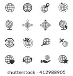 globes web icons for user... | Shutterstock .eps vector #412988905