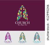 religion vector logo design... | Shutterstock .eps vector #412990246