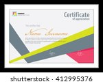 vector template for certificate ... | Shutterstock .eps vector #412995376