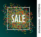 festive sale background with... | Shutterstock .eps vector #412998046