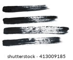 black abstract hand painted... | Shutterstock . vector #413009185